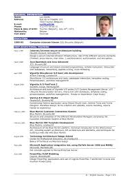 Resume Example Singapore Php As Best Of Curriculum Vitae English
