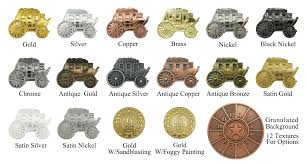 Metal Plating Chart Custom Gifts And Premiums Maker Star