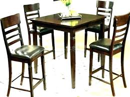 high bar table sets black height dining set iron loft round pub counter tables and chairs