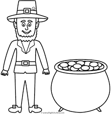 Small Picture Leprechaun with pot of gold Coloring Page St Patricks Day
