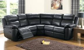 leather sofas black couch corner