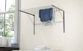 Amazon.com: Set of 2 Clothes Drying Rack Stainless Steel Wall Mounted  Folding Adjustable Collapsible , 6.5 Yards Drying Capacity: Home & Kitchen