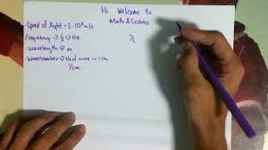 speed of light equation chemistry. speed of light, frequency, wavelenght and wavenumber light equation chemistry r
