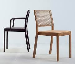 high end woven cane back dining chair
