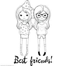 Best Friend Coloring Pages Friends To Print Forever Printable Heart
