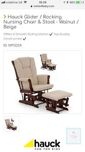 reclining nursing rocking chair with footstool