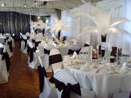 Black and White Wedding Reception Decorations