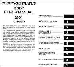 2001 sebring and stratus coupe body repair shop manual original 2001 chrysler sebring radio wiring diagram at 2001 Chrysler Sebring Wiring Diagram
