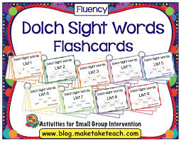 Dolch Second Grade Sight Words Flash Cards Assessing And Progress Monitoring Sight Words Make Take