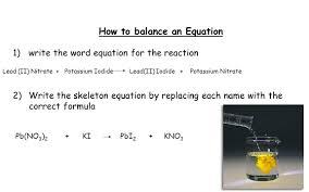 how to balance an equation