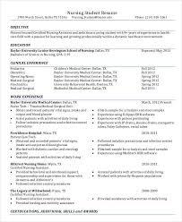 Nursing Student Resume Sample Nursing Student Student Nurse Resume Student Resume