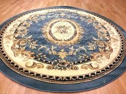main image of rug blue circle navy area light rounds new vintage