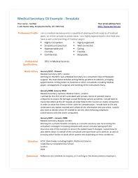 Secretary Resume Objective Examples Medical Secretary Resume Objectives Dadajius 22