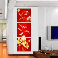 Modern Wall Paintings Living Room Online Buy Wholesale Red Fish Picture From China Red Fish Picture