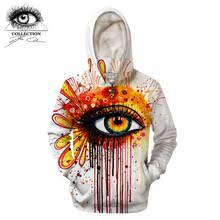 <b>Fire</b> and <b>Ice</b> by Pixie cold Art 3D толстовки с принтом глаз мужские ...