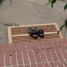 Teak wood outdoor Door Mat