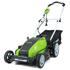 Greenworks 21 Inch 13 Amp Corded Electric Lawn Mower 25112
