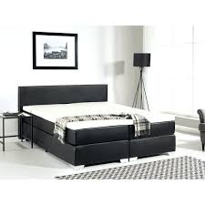 leather queen continental bed black ireland faux box 2 of