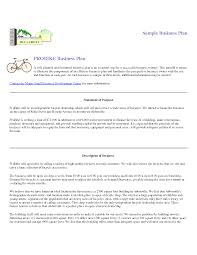 small business plans examples business plan examples retail business plan samples