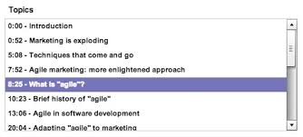 best practice chapters are essential to online presentation  topic list agile marketing presentation