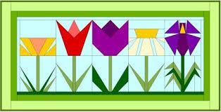 Paper Piecing Flower Spring Flowers Paper Piecing
