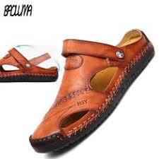 ROXDIA <b>Plus Size 39-48</b> Men Sandals Genuine Leather New ...