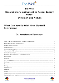 Pdf Bio Well Book 2017 What Can You Do With Your Bio Well