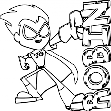 Teen Titans Coloring Pages With Go Colouring For - creativemove.me