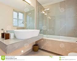 Modern Marble Bathroom Modern Marble Tiled Bathroom Stock Image Image 21652701