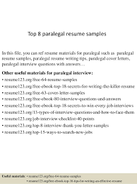 top 8 paralegal resume samples in this file you can ref resume materials for paralegal paralegal resume examples