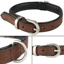 details about extra small brown soft genuine real leather dog puppy pet collar 27 5cm 35cm xs