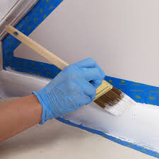 paint the trim with a brush