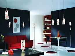 tips for low budget living room design with red list minimalist