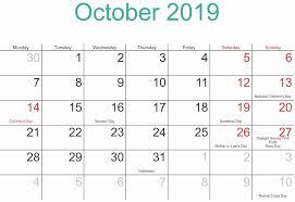 October Calendar 2019 Moon Phases Moon Phase Calendar New