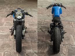nu cafe racer bullet 500cc rajna custom motorcycle front rear