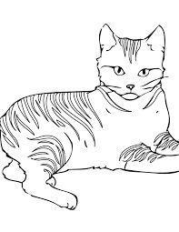 If you want colored picture to print then click print link for color. Free Printable Cat Coloring Pages For Kids