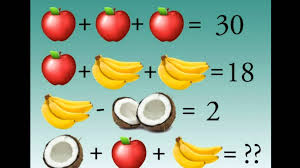 fruity brain teaser stumping the internet math problem with apples bananas coconuts you