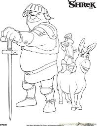 Small Picture Shrek3 4 Coloring Page Free Shrek Coloring Pages