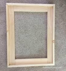 diy wood framed bathroom mirror