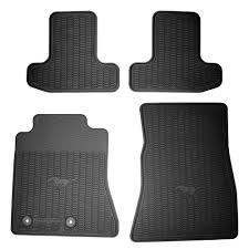 Rubber floor mats Mazda Cx Ford Floor Mat Black Rubber Set 20152019 Cj Pony Parts Ford Fr3z6313300ba Mustang Floor Mat Black Rubber Set 20152019