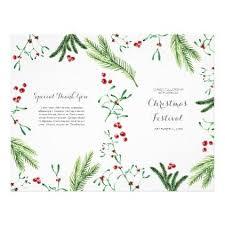 Christmas Program Templates Folded Greenery Christmas Program Church Flyer Zazzle Com