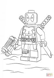 Lego Avengers Coloring Pages Lego Deadpool Coloring Page Free