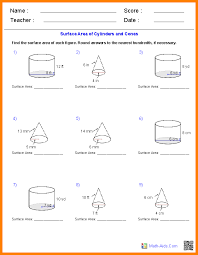 Volume-of-cylinder-worksheet & Finding The Volume Of Prisms And ...