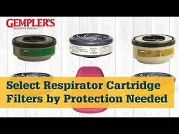 3m Cartridge Chart Selecting The Right Reusable Respirator Cartridge Filter Respirator Tips From Gemplers