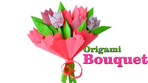 Paper Origami Flower Bouquet Origami Bouquet How To Make Paper Tulips Origami Flowers For