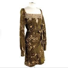 R E D Valentino 40 Vtg Inspired Floral Dress