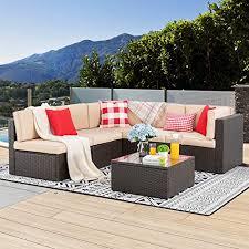 piec wicker patio furniture set