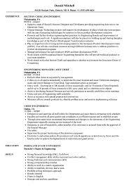 Chief Engineering Resume Samples Velvet Jobs
