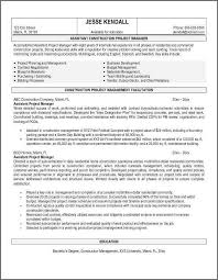 project manager resume sample bidproposalformcom project manager resume template