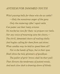 wilfred owen anthem for doomed youth quotes poems  wilfred owen anthem for doomed youth